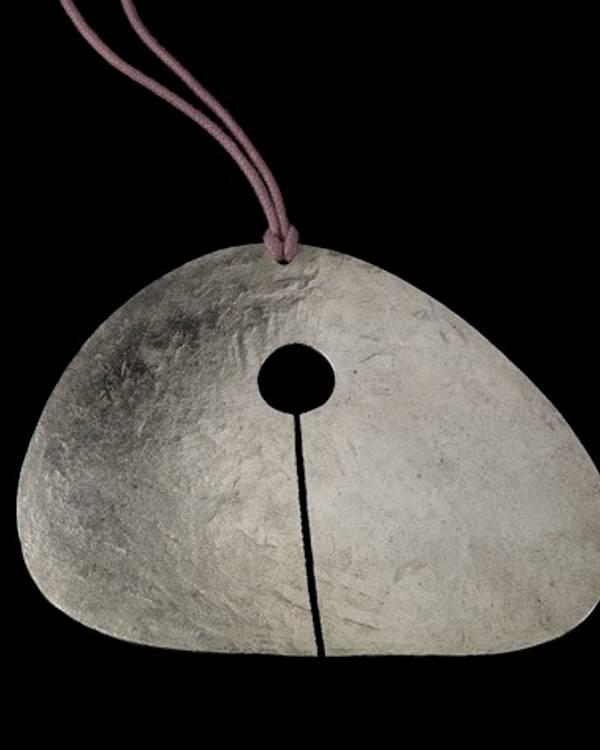 BERTOIA - Silver Gong Pendant