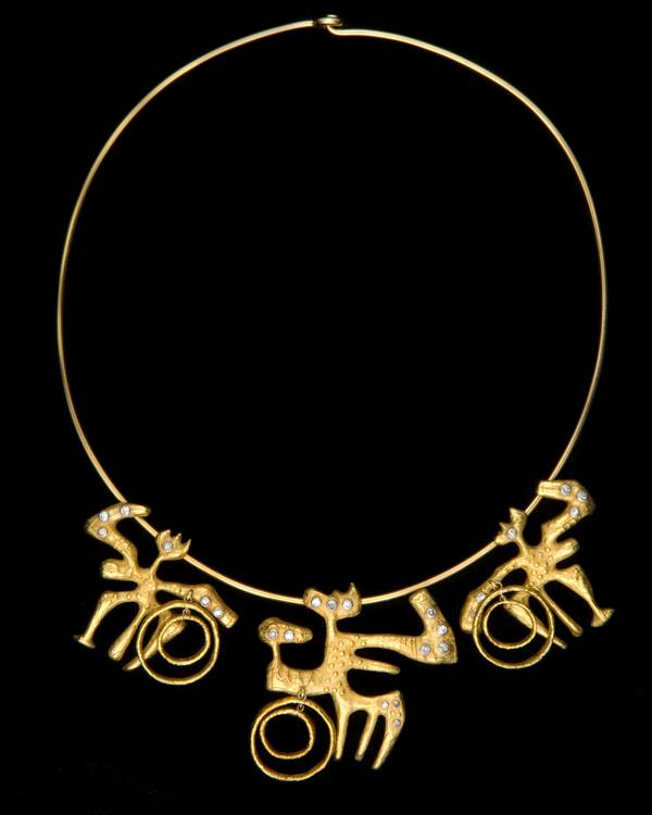 AFRO - Gold and Diamond Necklace