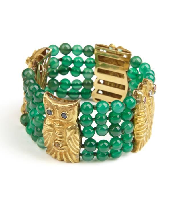 AFRO - Gold Owlet Bracelet
